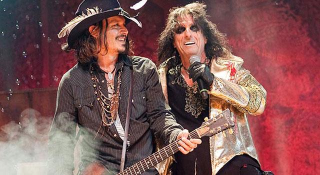 Alice Cooper live con Johnny Depp